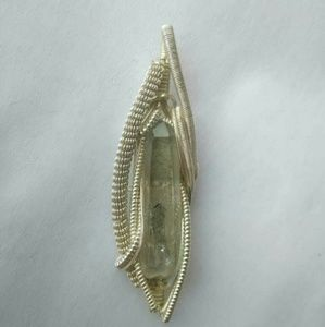 Clear Quartz with Chloride inclusions Pendant